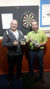 Andre van Weert(winnaarsronde) en Henk Wind(verliezersronde)