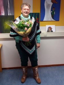 Afscheid van Geesje als penningmeester van Stichting Dorpscentrum Vledderveen