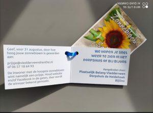Op zaterdag 20 februari zijn de inwoners van Vledderveen in het zonnetje gezet. 1